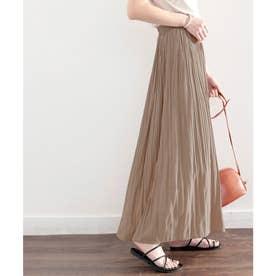 ふわり、揺れる。一目置かれる魅惑のプリーツスカート (モカ)