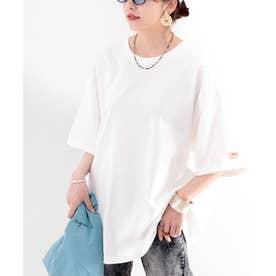 《JaVaジャバ コラボ》綿100% オーガニックコットン。シンプルbigTシャツ (ホワイト)