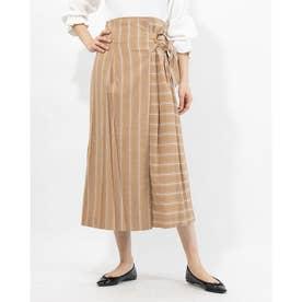TCストライプラップスカート (BEIGE)