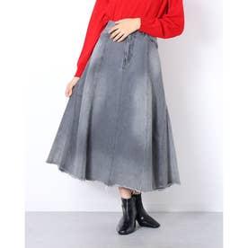 Black Flare Skirt (GRAY)