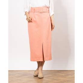 ベルト付きナロースカート (PINK)