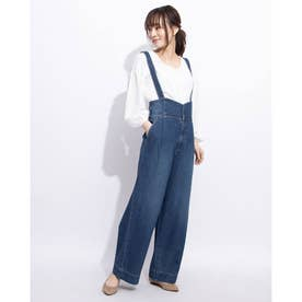 Highwaist Salopette Denim (NAVY)
