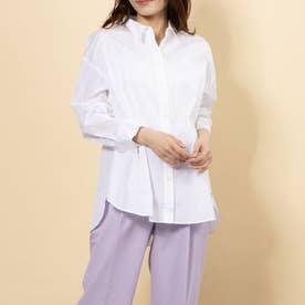 100/2ブロード無地・ストライプBIGシャツ (OFF WHITE)