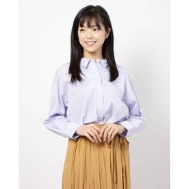 100/2ブロード無地・ストライプBIGシャツ (LAVENDER)