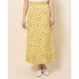 プリント裾ペプラムスカート (YELLOW)