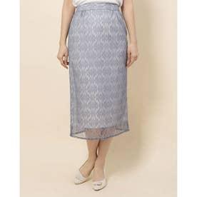 レースロングタイトスカート (BLUE)