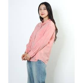 綿麻シャンブレー2WAYシャツ (ORANGE)