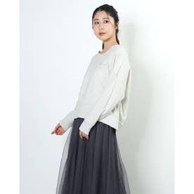 Meaningful刺繍ミニ裏毛プルオーバー (IVORY)