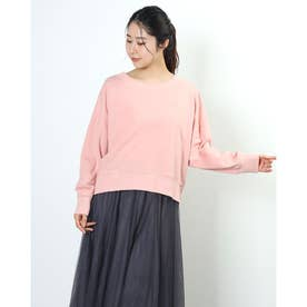 Meaningful刺繍ミニ裏毛プルオーバー (ORANGE)