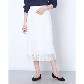かぎ針総レースタイトスカート (OFF WHITE)