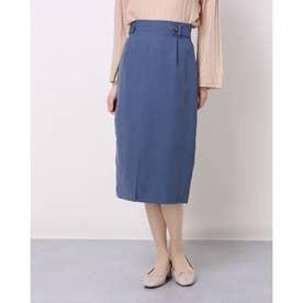タブ付ロングタイトスカート (BLUE)
