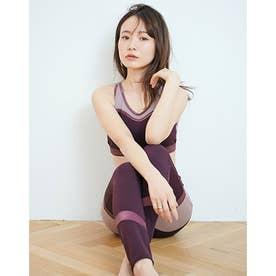 メッシュサテンブラトップ&レギンス (PURPLE)【返品不可商品】