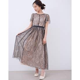 MIIIレースレイヤードドレス (BEIGE)