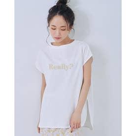 パターンロゴスリットTシャツ (WHITE)