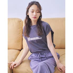 パターンロゴスリットTシャツ (DARK GRAY)