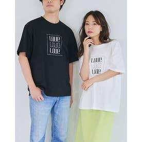 ユニセックスロゴ刺繍Tシャツ (WHITE)