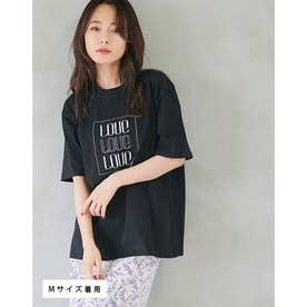 ユニセックスロゴ刺繍Tシャツ (BLACK)