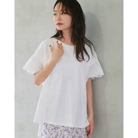 フリルドッキングTシャツ (WHITE)