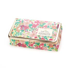 リバティプリント がま口ミラー付BOX エミリーPK (ピンク)