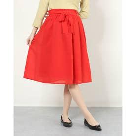共リボンギャザースカート (RED)