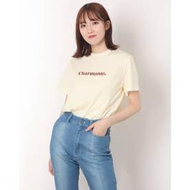 charmanteプリントTシャツ (WINE)