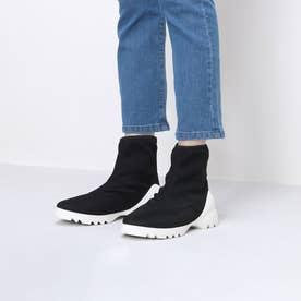 ソックスブーツ (ブラック雑材)
