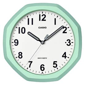 電波時計 壁掛け時計 置時計兼用 / IQ-888NJ-3JF (ライトグリーン)