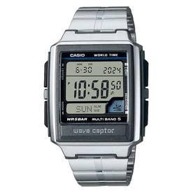 【CASIO】wave ceptor (ウェーブセプター) / 電波腕時計 / WV-59RD-1AJF (シルバー×ブラック)