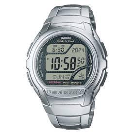 【CASIO】wave ceptor (ウェーブセプター) / 電波腕時計 / WV-58RD-1AJF (シルバー×ブラック)