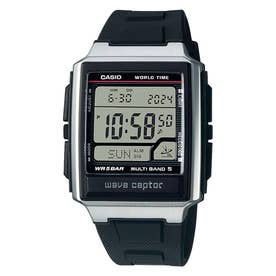 【CASIO】wave ceptor (ウェーブセプター) / 電波腕時計 / WV-59R-1AJF (ブラック×シルバー)