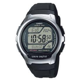 【CASIO】wave ceptor (ウェーブセプター) / 電波腕時計 / WV-58R-1AJF (ブラック×シルバー)