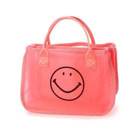 スマイルモチーフメッシュバッグインバッグ (ピンク)