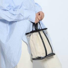 【テレビ ドラマ着用アイテム】ビニールバケツ巾着2wayショルダー (ブラック)