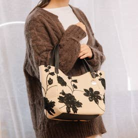 フラワー刺繍ミニトートバッグ (BE)