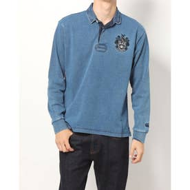 メンズ 長袖ポロシャツ L/S ラグビーシャツ RA41585 (ネイビー)