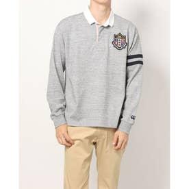 メンズ 長袖ポロシャツ L/S ラグビーシャツ RA41585 (グレー)