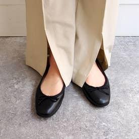 ふかふかで履きやすさ抜群の【軽量】バレエシューズ (ブラック)