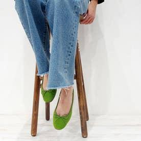 ふかふかで履きやすさ抜群の【軽量】バレエシューズ (グリーン)
