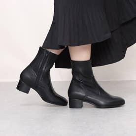 ストレッチショートブーツ (ブラック)