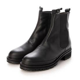 プラット製法で履きやすさ抜群のサイドゴアブーツ (ブラック)
