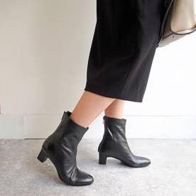 プレーンショートブーツ (ブラック)