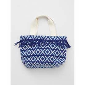 【チャイハネ】モロッカン織りミニトートバッグ ブルー