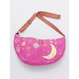 【チャイハネ】夜空に輝く月星クレセントショルダーバッグ パープル