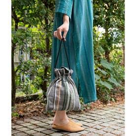 【チャイハネ】ティパール巾着バッグ グレー