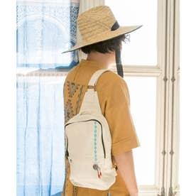 【チャイハネ】コンチョ&刺繍ワンショルダーリュック ナチュラル
