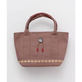 【チャイハネ】コンチョ&刺繍キャンバスミニトートバッグ ブラウン