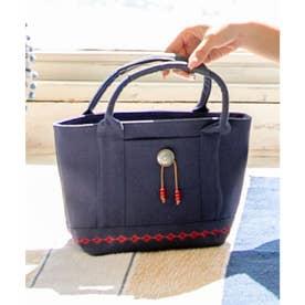 【チャイハネ】コンチョ&刺繍キャンバスミニトートバッグ ネイビー