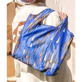 【チャイハネ】アフリカン幾何学柄エコバッグ ブルー