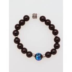 【チャイハネ】ほたる玉一粒数珠メンズブレスレット ブラック