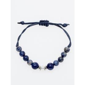 【チャイハネ】数珠ストリングブレスレット 8mm玉天然石 ブルー